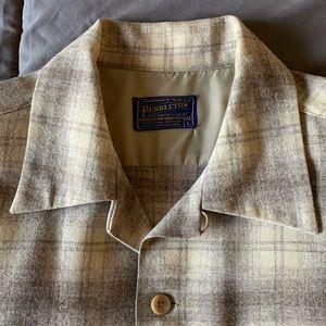 Vintage Pendleton Board 100 % virgin wool tan